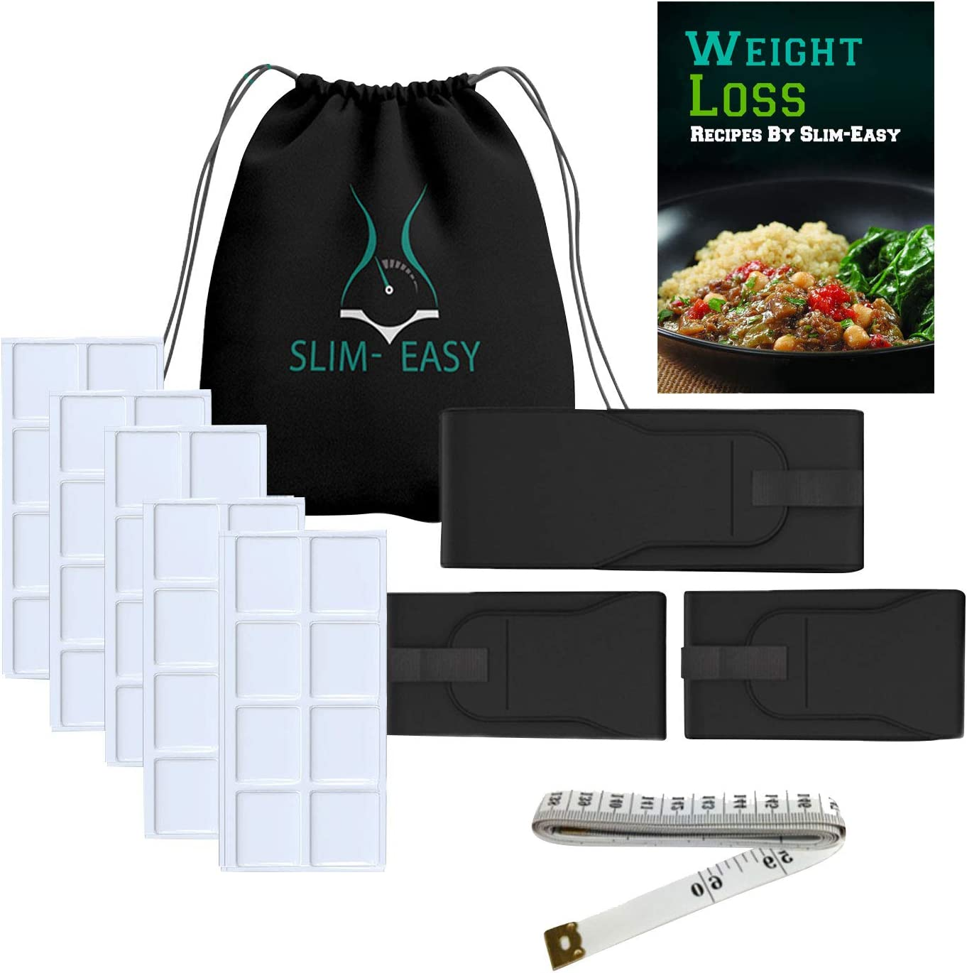 Slim-Easy - Weight Loss Kit | Fat Freezing System - Cold Body Sculpting Belts (Waist, Arms, and Leg Wraps)