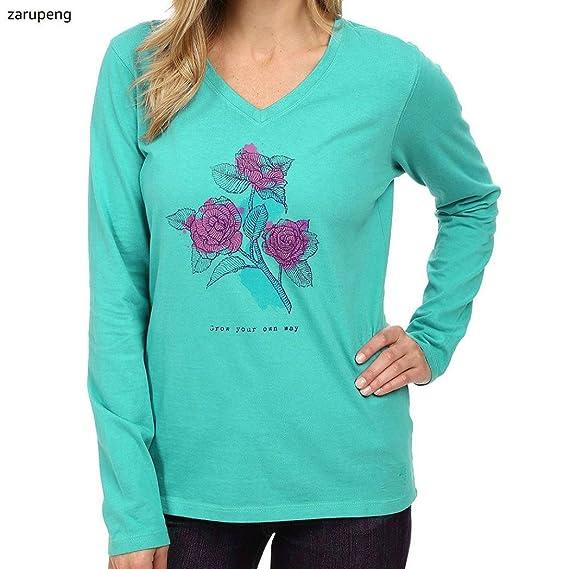 Zarupeng Blusa floja de la camiseta del tanque del cuello redondo de la manga larga de la impresión de las mujeres del verano: Amazon.es: Relojes