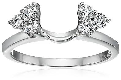 Amazon Com 14k White Gold Round Diamond Solitaire Engagement Ring