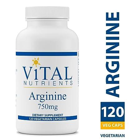 Vital Nutrients – Arginine 750 mg – Amino Acid Support for Heart Health – 120 Capsules