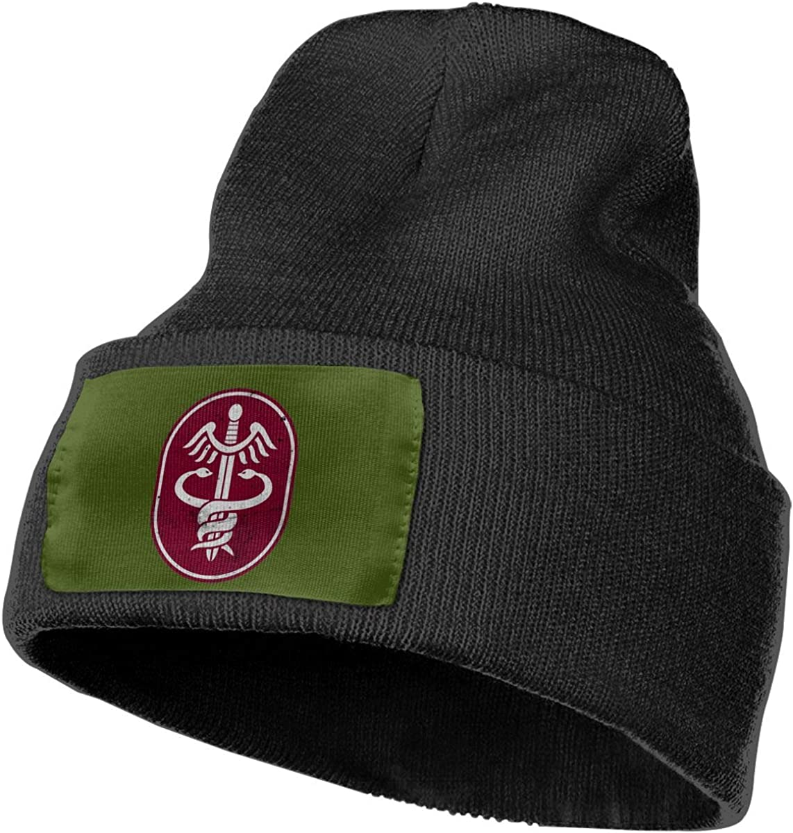 FORDSAN CP US Army Retro Medical Command Mens Beanie Cap Skull Cap Winter Warm Knitting Hats.
