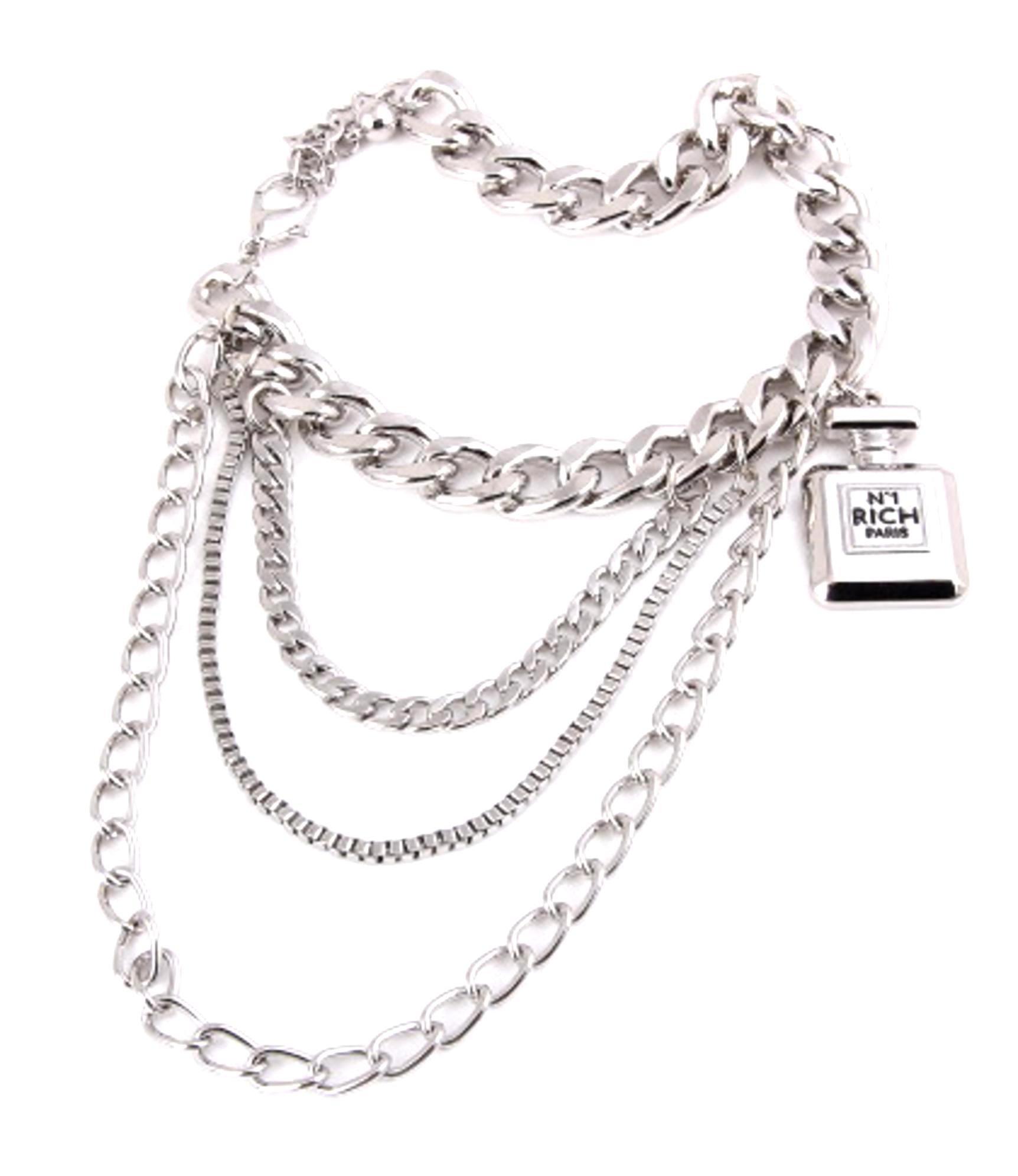 Fashion Trendy Shoe Chain - Anklet For Women - Unisex / AZFJBT (AZFJBT025-SIL)