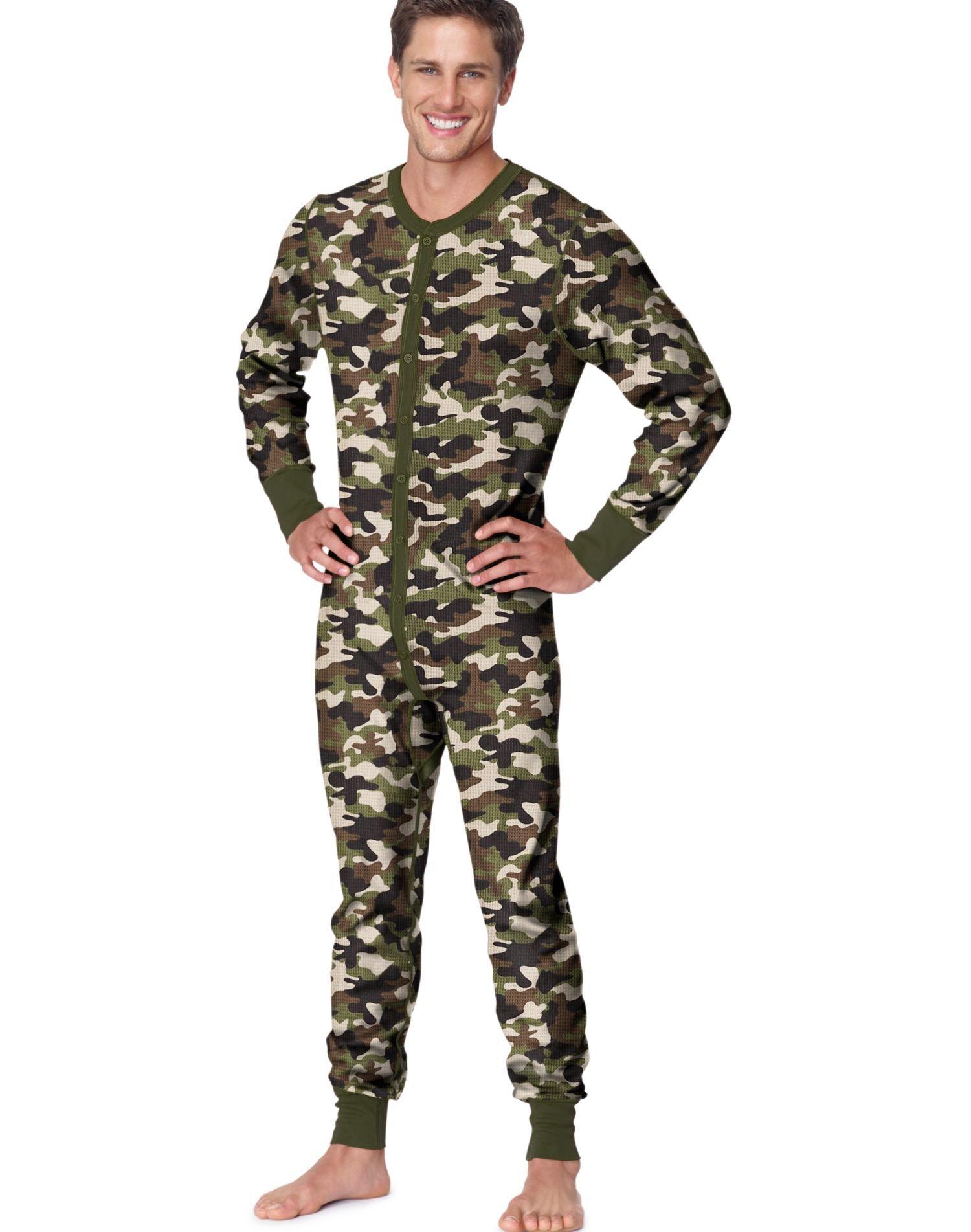 Hanes Men's X-Temp™ Camo Thermal Union Suit 3X-4X