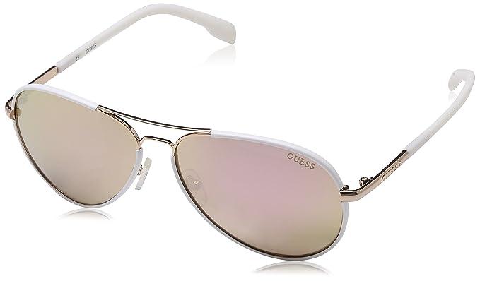 Guess Unisex-Erwachsene Sonnenbrille GF025632F60, Gold, 52