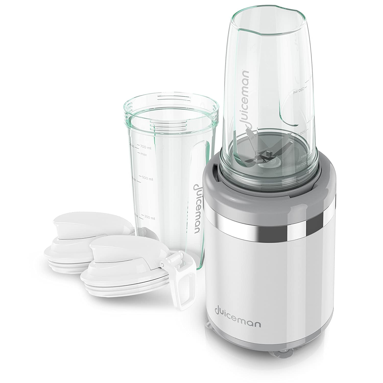 Juiceman JM3000 3-in-1 Total Electric Juicer, Juicer, Blender, Citrus Juicer with 2L Removable Pulp Container & 24oz. Portable Personal Blending Jar (Travel Lid Included)