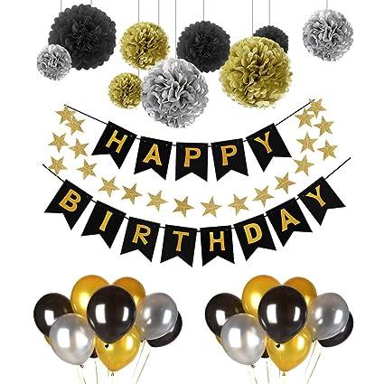 Deko Geburtstag Geburtstag Dekoration Set Pomisty Happy Birthday