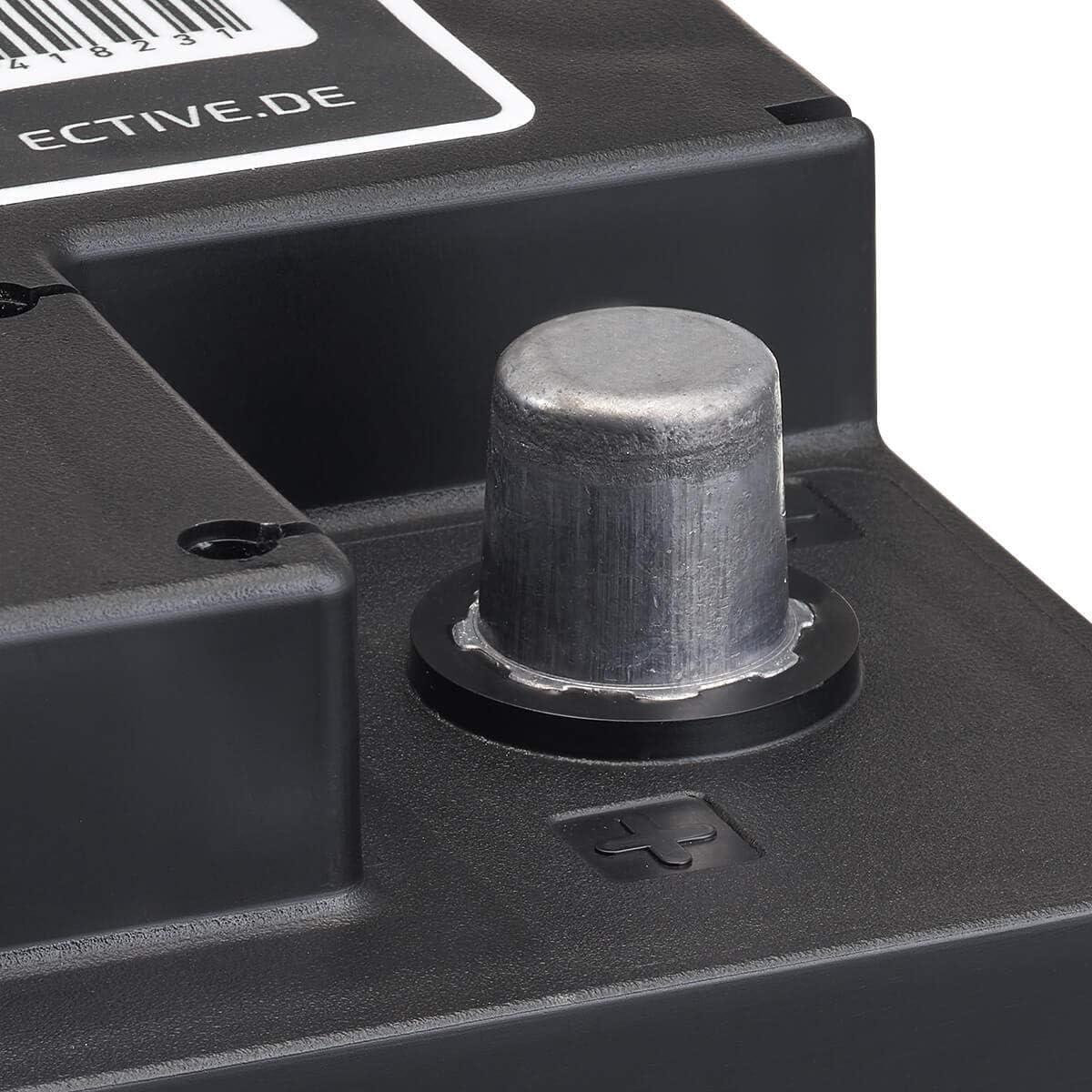ECTIVE 12V 110Ah zyklenfester AGM Blei-Akku Versorgungsbatterie VRLA Starterbatterie Semi Cycle SC110 wartungsfrei
