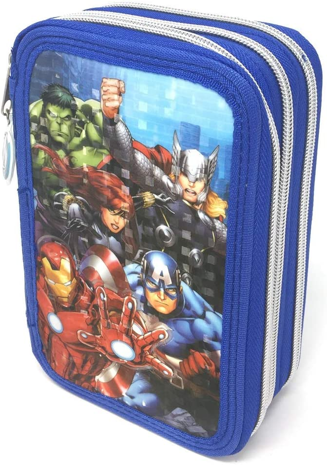 BRAND NEW WITH TAGS AVENGERS 3 POCKET PENCIL CASE