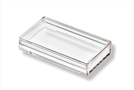 Caja de plástico transparente plana 53 x 30 x 10 mm: Amazon.es: Hogar