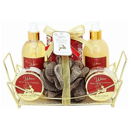 Gloss - caja de baño, caja de regalo para mujeres - Estuche de Baño Regalo - Winter - Arándano
