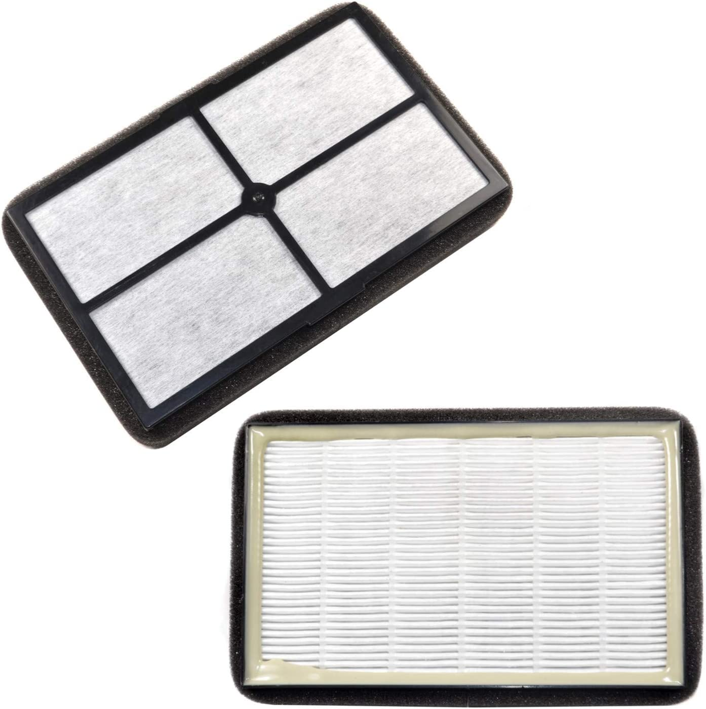 HQRP 2-pack HEPA Air Filter compatible with Black&Decker BXAP040 BXAP041 Table Top, parts BXFLTX FLT4010 Replacement