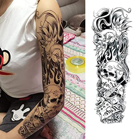 tzxdbh 3Pcs-Squid Full Flower Brazo Tattoo Sticker Body Painted ...