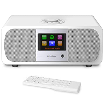 LEMEGA M3+ Smart Music System with Wireless Internet Radio, FM Radio, Bluetooth, Spotify, WiFi, 2.1 Channel Stereo Speaker, USB MP3, Headphone-Out, ...