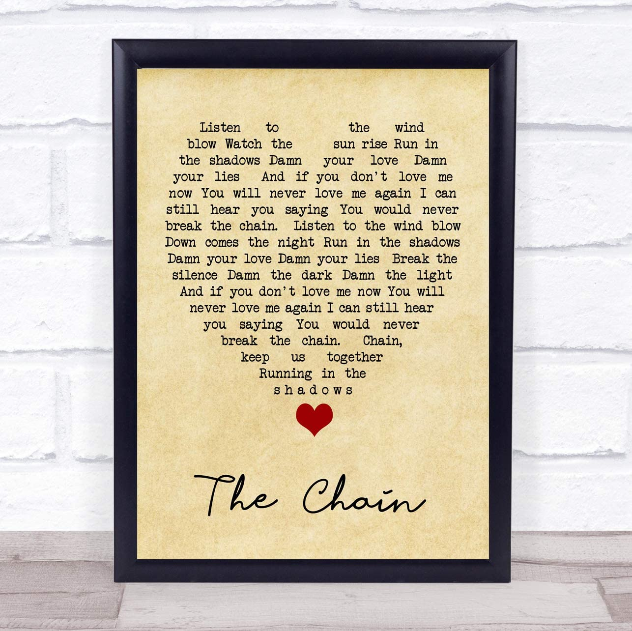 The Chain Song Lyric Vintage Quote Print
