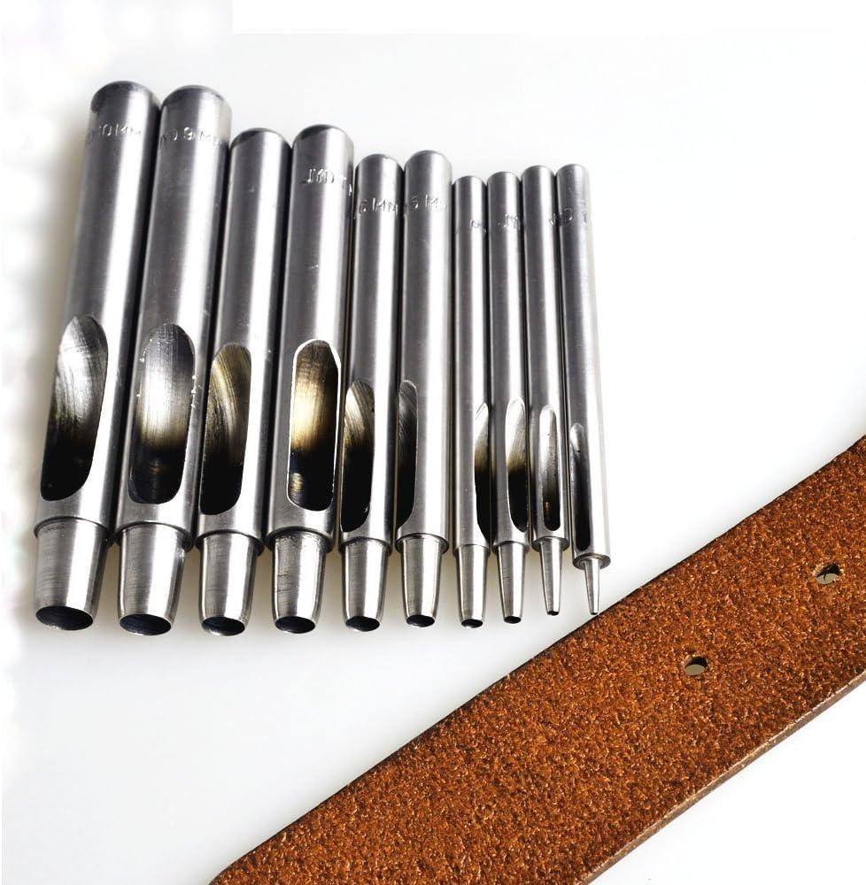 Paper Plastic Weddecor 1.5mm Silver Hollow Hole Punch Heavy Duty Solid Metal for Leatherworking Vinyl Gasket Fiber Scrapbooking