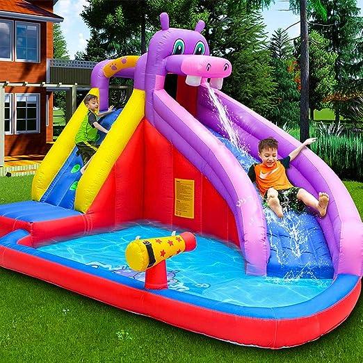 LX inflatable toys Piscina Inflable De Tobogán De Agua De Verano ...
