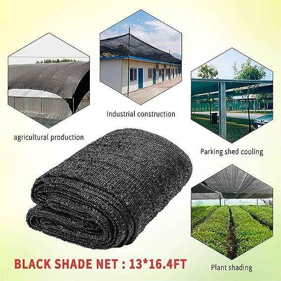 GJR-Zheyangpeng 4x5 m 40% de Tela de Sombra Protector Solar para el Sol Sombra para Plantas de jardín Cubierta Vegetal Estacionamiento Anti UV Sombrilla de Red PE Invernadero Patio: Amazon.es: Deportes y