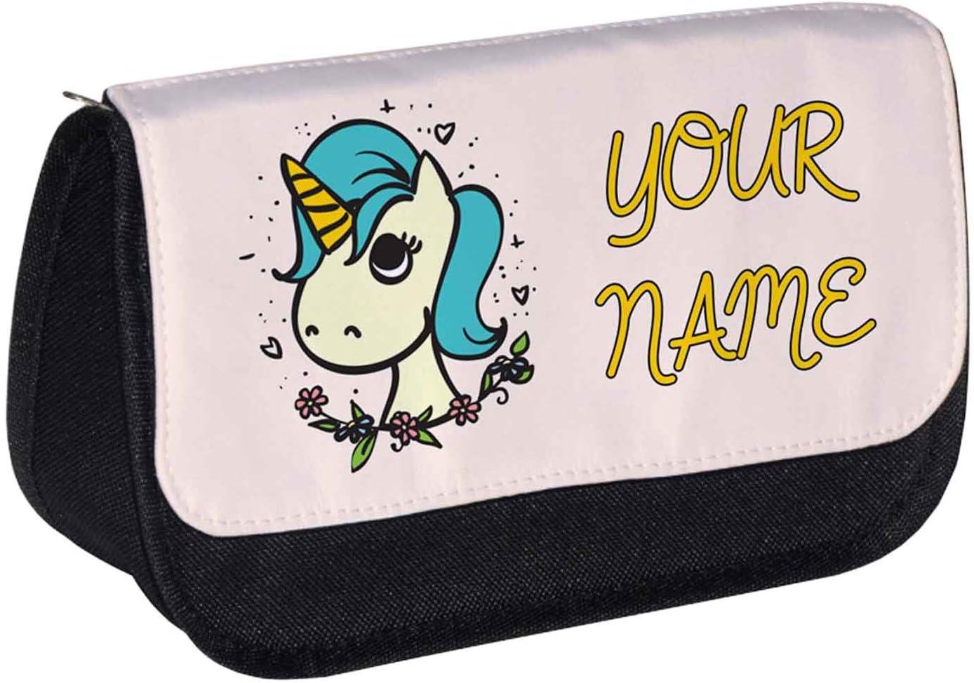Personalizado Unicornio con collar estuche/Make up bolsa – Emoji: Amazon.es: Oficina y papelería