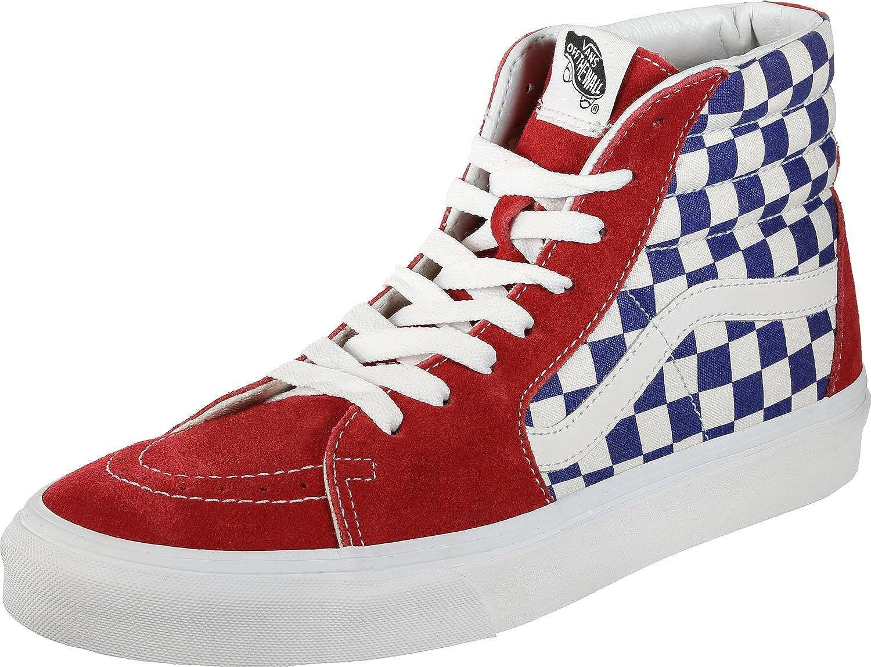 8b51482c0894 Amazon.com | Vans VN-0A38GEU8H: Unisex SK8-Hi Checkerboard True Blue Red  Sneaker (12 D(M) US Men) | Fashion Sneakers