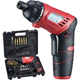 AOBEN 3.6-Volt Cordless Electric Power Screwdriver Kit Lightweight Max Torque 5N.m 2-Position Rechargeable Lithium Ion Battery with 32 Screwdriver Bits, Charger for Men, Women, DIY (AB7211T)