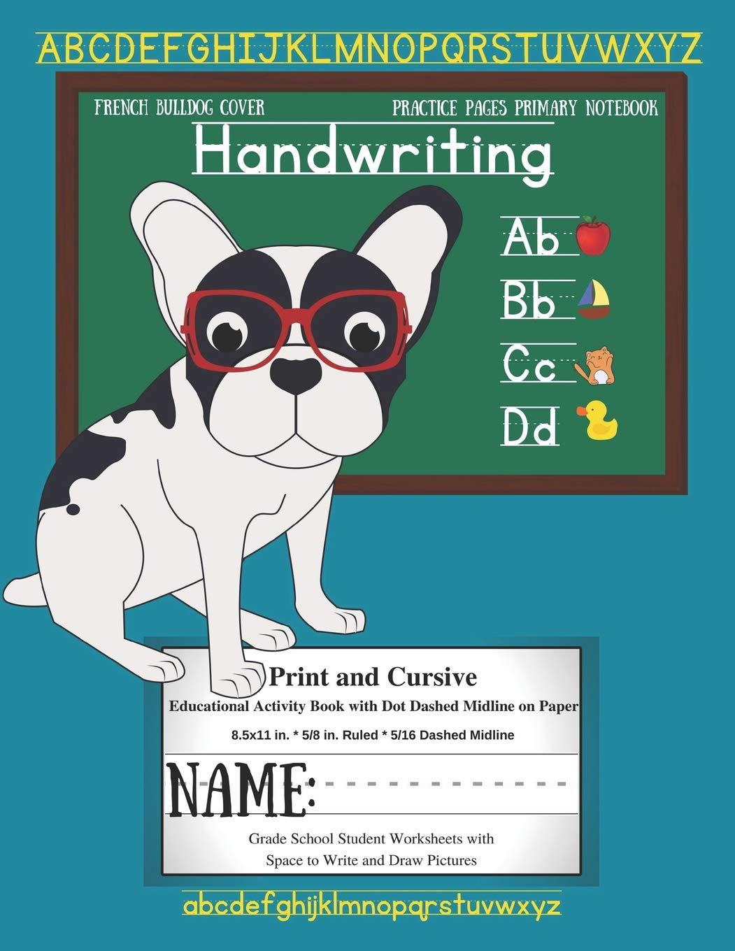 French Bulldog Cover Handwriting Practice Pages Primary Notebook