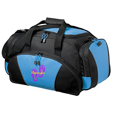 Personalized Flip Flop Metro Duffel Gym and Travel Bag (Light Blue)