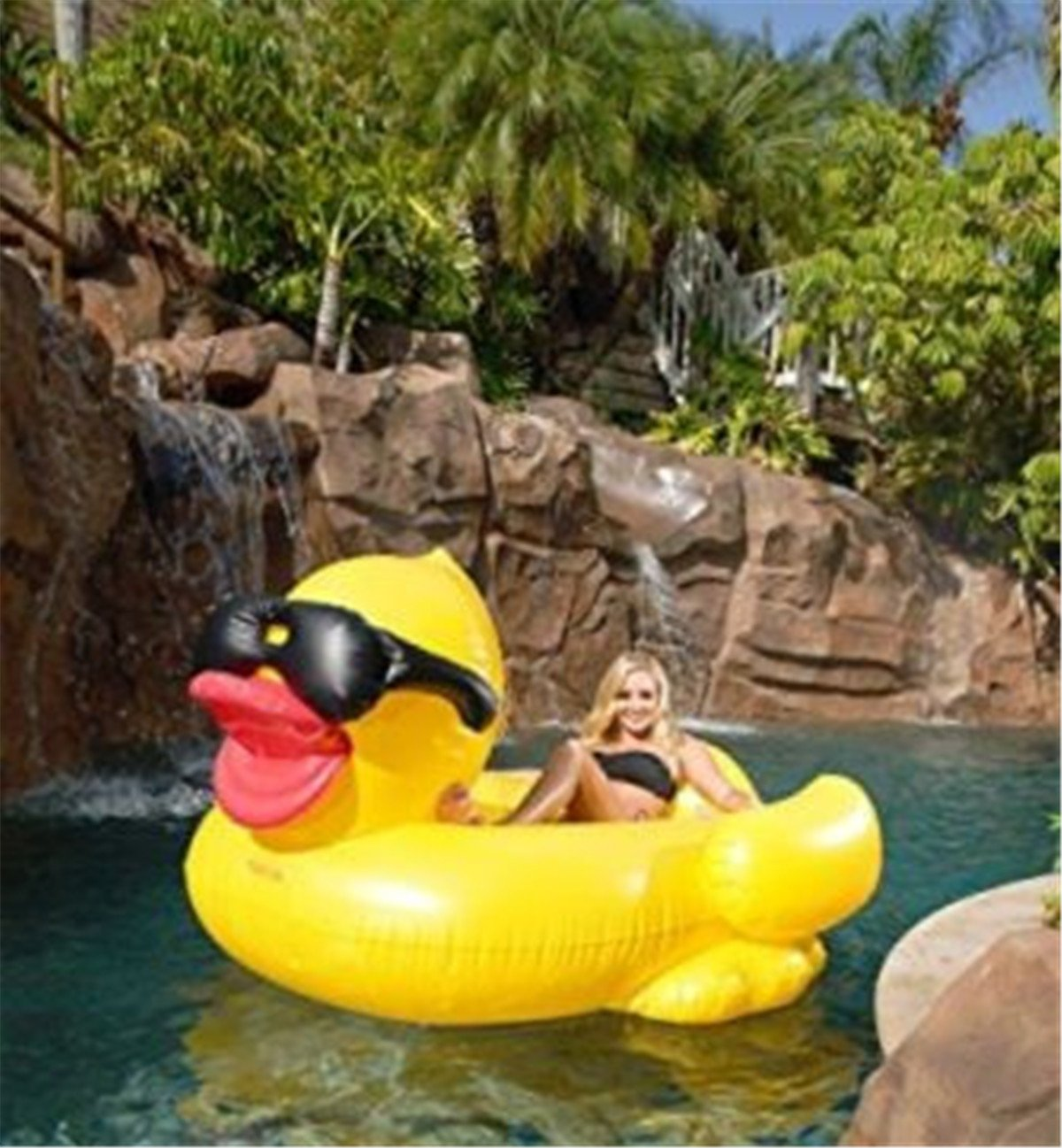 Water Sports Lianshi Swimming Rings Yellow Duck Inflatable Float ...