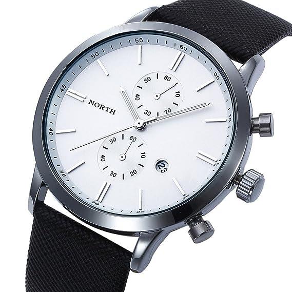 El Square-Reloj de pulsera para hombre piel, resistente y elegante, alta calidad