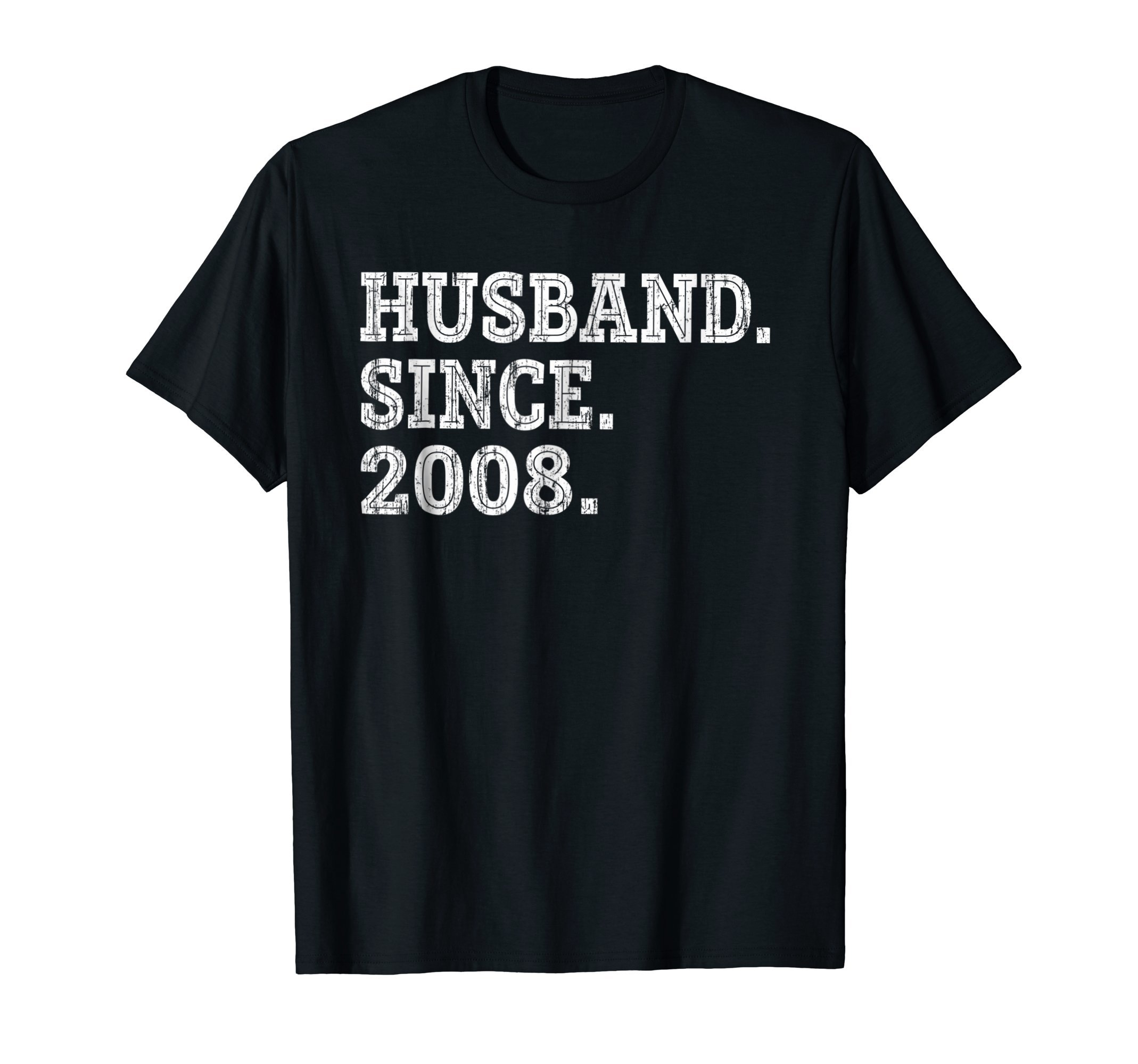 10th Wedding Anniversary Gifts - Husband Since 2008 Shirt by Wedding Anniversary Gift Shirts for Mens (Image #1)
