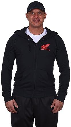 66e9ec26696 Amazon.com  JH DESIGN GROUP Men s Honda Zip-Up Hoodie a Men s Full Zip Black  Sweatshirt  Clothing