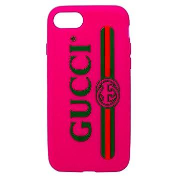 size 40 c466f 861da Amazon | (グッチ) GUCCI GGロゴ シリコン iPhone 7/8 ケース ...