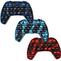 TIM 3 Pack Pop Push Game Controller Gamepad Shape Pop Push tie dye Bubble Sensory Fidget Toy Autism Special Needs Stress…