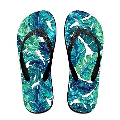 5d9a4cdc4848 Amazon.com  Banana Leaf Unisex Beach Sandal Anti Slip Flip Flops Outdoor  Thong Slipper  Clothing