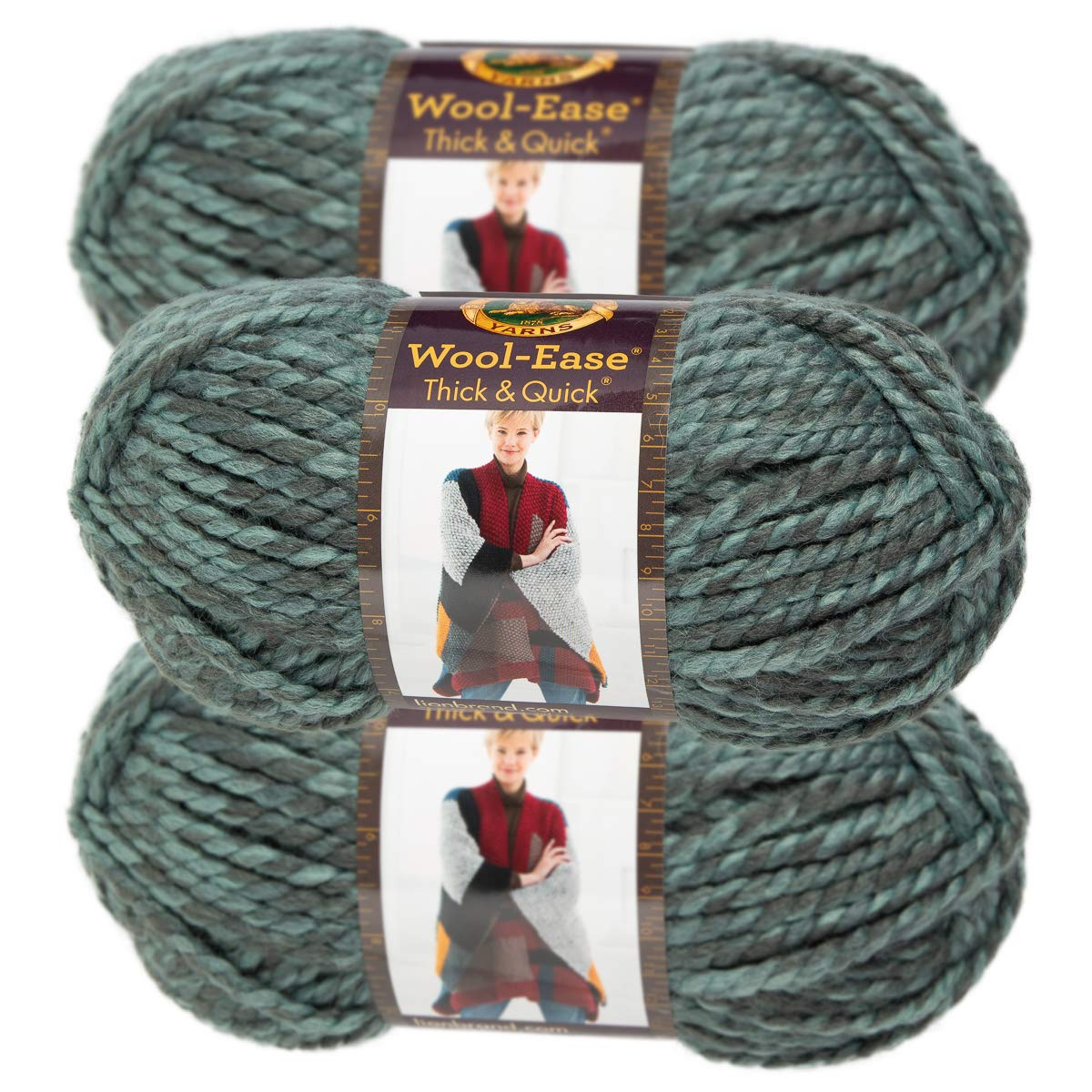 Wool-Ease Yarn Oxford Grey Set Of 10