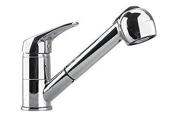 waterful t190165 dalia rubinetto lavello cucina bocca girevole doccia estraibile
