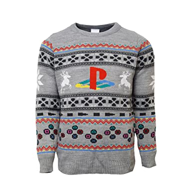 f8a23c61ae Playstation Official Console Christmas Jumper Ugly Sweater UK 3XL US 2XL  Grey