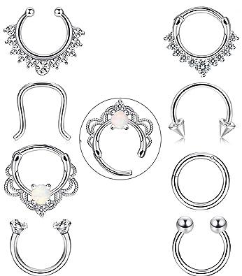 Amazon.com: FIBO STEEL - Juego de 8 piercings de acero ...