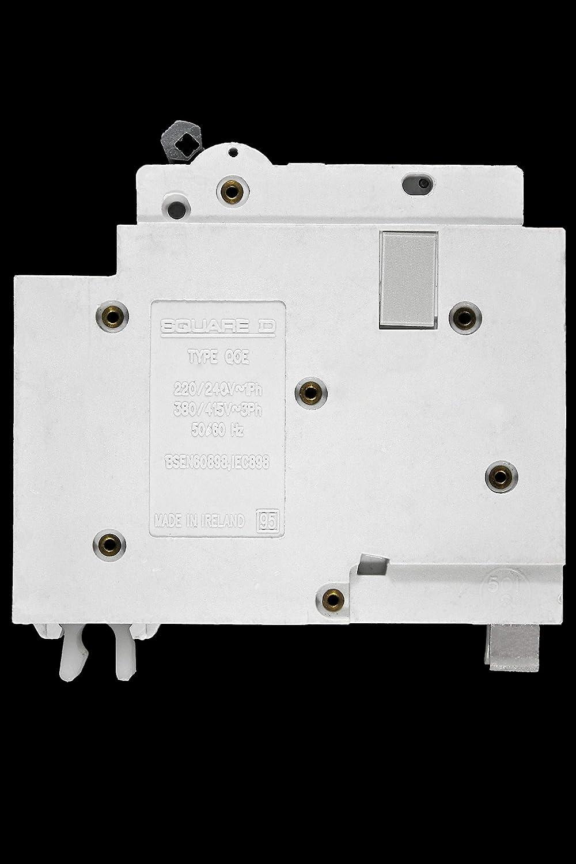 SQUARE D 20 AMP TYPE C 6 kA MCB CIRCUIT BREAKER 240V QOE BS EN 60898