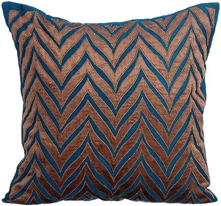 Federe Cuscini 55x55.The Homecentric Blu E Oro 55x55 Cm Velluto Fodere Per Cuscini Blu