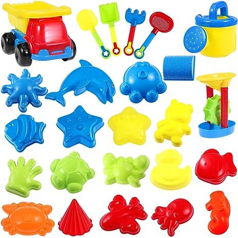 Toyvian juego de juguetes de playa multicolor, kit de moldes ...