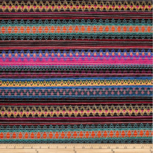 (Springs Creative Products 0573847 Springs Creative Southwestern Chenille Stripe Multi Fabric by The Yard Multicolor)
