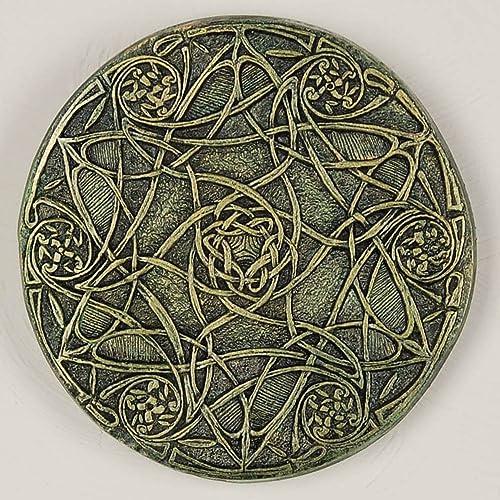 Celtic Star Garden Stone Art Wall Plaque