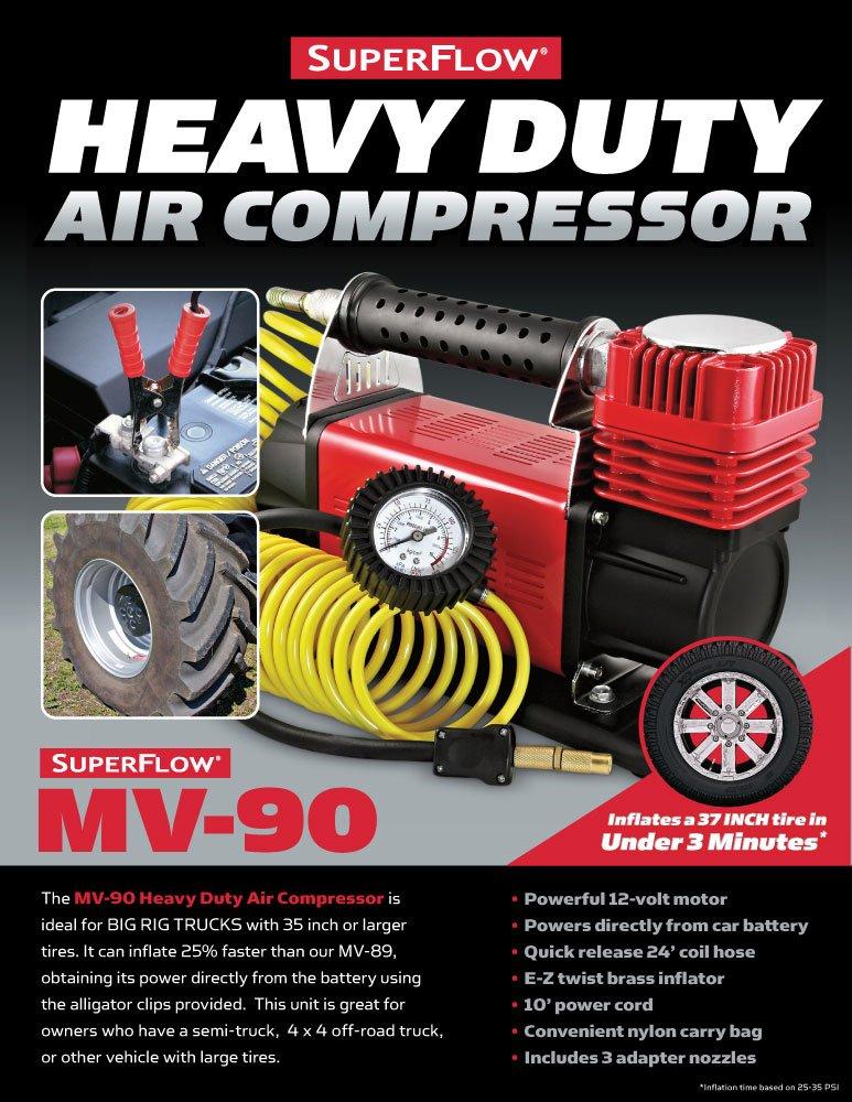 Superflow - 12 V HD Compresor De Aire Neumático Inflador ideal para camiones, todoterrenos, vehículos recreativos y tractores: Amazon.es: Coche y moto
