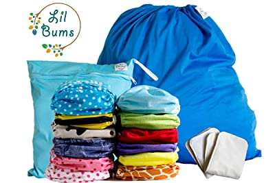 Image: Lil Bums Cloth Diapers Starter Kit 12 Pack | adjustable to fit newborns to toddlers | softest cloth diapers on the market