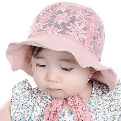 94bb1d4ee3c iHomey Bébé Bambin Filles Grand Chapeau de Soleil de Bord avec Le Chapeau  de Seau de