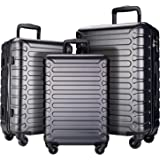 SHOWKOO 3 Piece Luggage Sets Expandable ABS Hardshell Hardside Lightweight Durable Spinner Wheels Suitcase with TSA Lock…