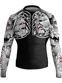 Raven Fightwear Men/'s Aztec Ranked Rash Guard MMA BJJ Brown