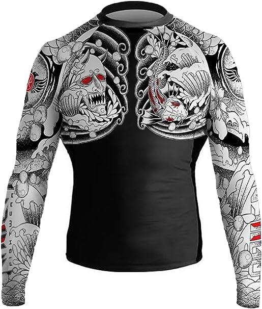 Raven Fightwear Men/'s Odin Nordic Rash Guard MMA BJJ Black