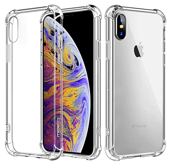 best website 6f7fc 9ede3 MoKo Cover Compatible for iPhone Xs Case/iPhone X Case, Crystal Clear  Reinforced Corners TPU Bumper and Anti-Scratch Hard Cover Fit with Apple  iPhone ...