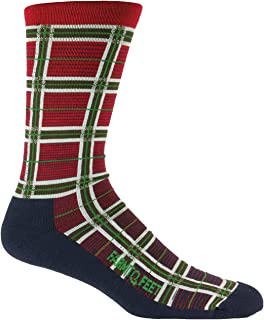 product image for Farm to Feet Mccomb Plaid Crew Socks, Eclipse, Large